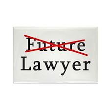 No Longer Future Lawyer Rectangle Magnet