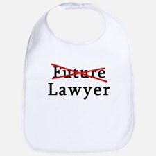 No Longer Future Lawyer Bib