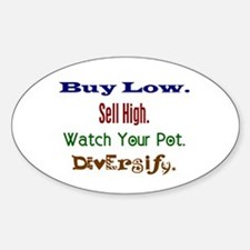 Buy Low Oval Decal
