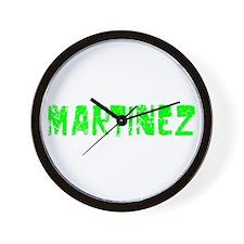 Martinez Faded (Green) Wall Clock