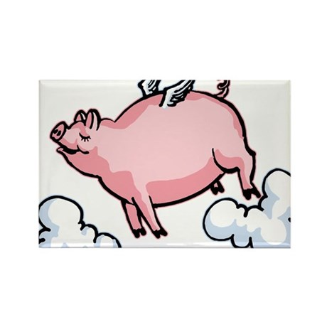 Flying Pig Rectangle Magnet (10 pack)