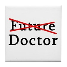 No Longer Future Doctor Tile Coaster