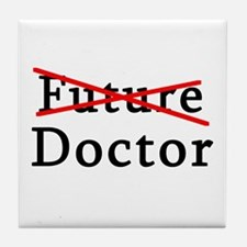 No Longer Future Doctor Tile Coaster