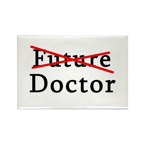 No Longer Future Doctor Rectangle Magnet (100 pack