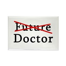 No Longer Future Doctor Rectangle Magnet