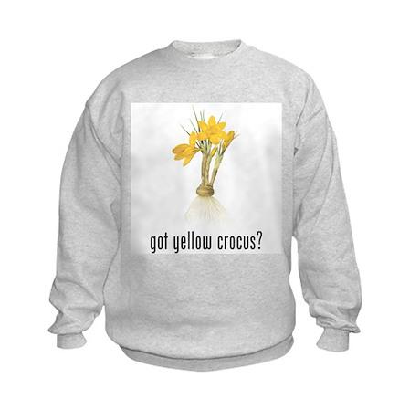 Yellow Crocus Kids Sweatshirt