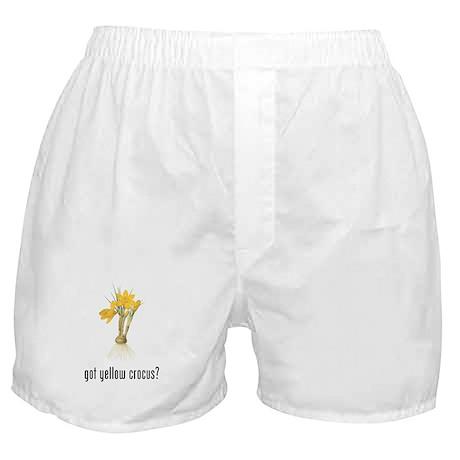Yellow Crocus Boxer Shorts