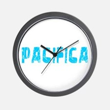 Pacifica Faded (Blue) Wall Clock