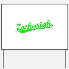 Retro Zechariah (Green) Yard Sign
