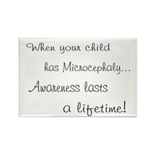 Microcephaly awareness lasts Rectangle Magnet (10