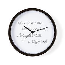 Microcephaly awareness lasts Wall Clock