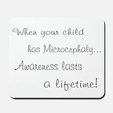 Microcephaly awareness lasts Mousepad