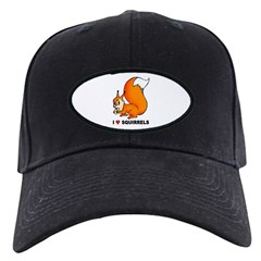I Love Squirrels Baseball Hat