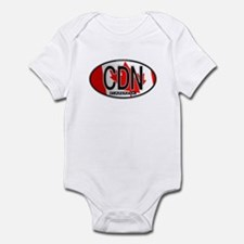 Canada Oval Colors Infant Bodysuit