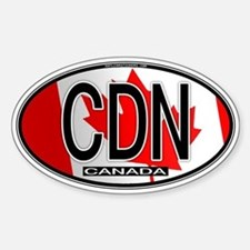 Canada Oval Colors Oval Decal