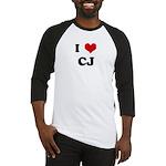 I Love CJ Baseball Jersey