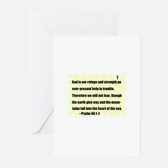 GOD IS OUR REFUGE AND STRENGTH Greeting Cards (Pac