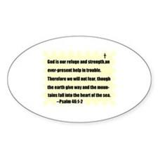 GOD IS OUR REFUGE AND STRENGTH Oval Decal
