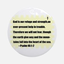 GOD IS OUR REFUGE AND STRENGTH Keepsake (Round)
