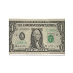 Dollar Bill Rectangle Magnet (100 pack)