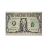 Dollar Bill Rectangle Magnet (10 pack)