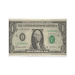 Dollar Bill Rectangle Magnet