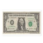 Dollar Bill Postcards (Package of 8)
