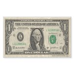 Dollar Bill Rectangle Sticker