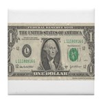 Dollar Bill Tile Coaster