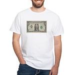 Dollar Bill White T-Shirt
