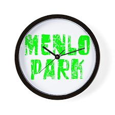 Menlo Park Faded (Green) Wall Clock