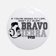 Bravo Sierra Avaition Humor Ornament (Round)