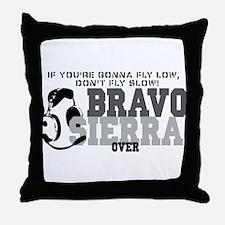 Bravo Sierra Avaition Humor Throw Pillow