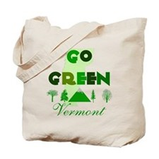 Go Green Vermont Reusable Canvas Tote Bag