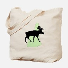 New Hampshire Moose Reusable Canvas Tote Bag