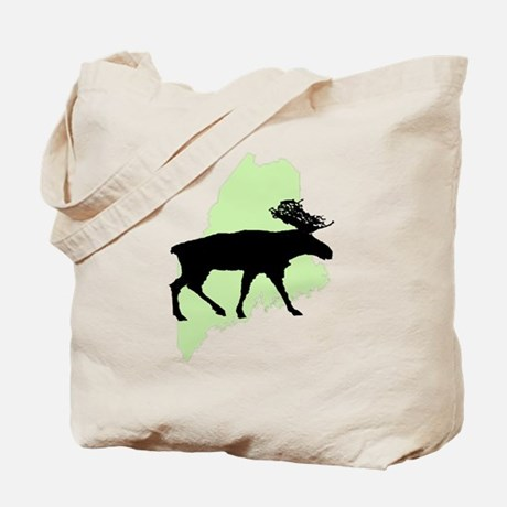 Maine Moose Reusable Tote Bag
