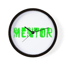 Mentor Faded (Green) Wall Clock