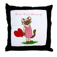 Purr-fect Mommy Throw Pillow