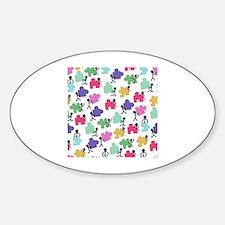 Cute Autistic advocacy Sticker (Oval)
