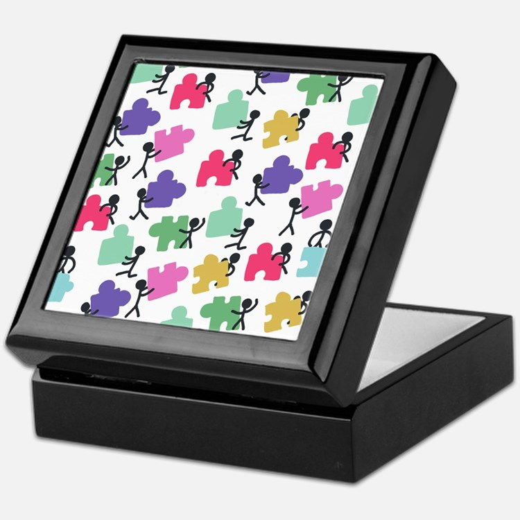 Cute Autistic advocacy Keepsake Box