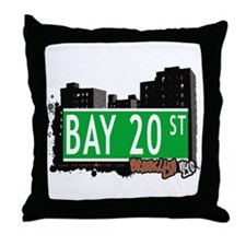 BAY 20 STREET, BROOKLYN, NYC Throw Pillow