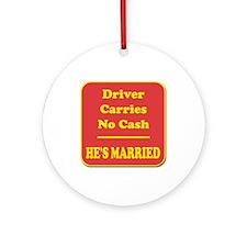 Male Driver Ornament (Round)