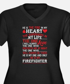He Is The Fire In My Heart T Shi Plus Size T-Shirt