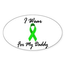 I Wear Lime Green For My Daddy 1 Oval Decal