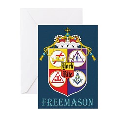 York Rite Mason Greeting Cards (Pk of 20)