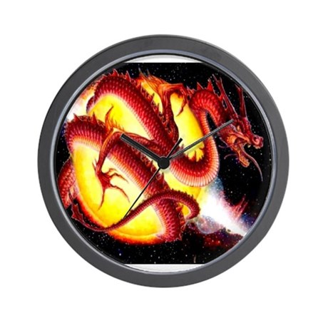 Dragon FireBall Wall Clock