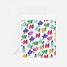 autistic people Greeting Cards
