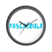 Pascagoula Faded (Blue) Wall Clock