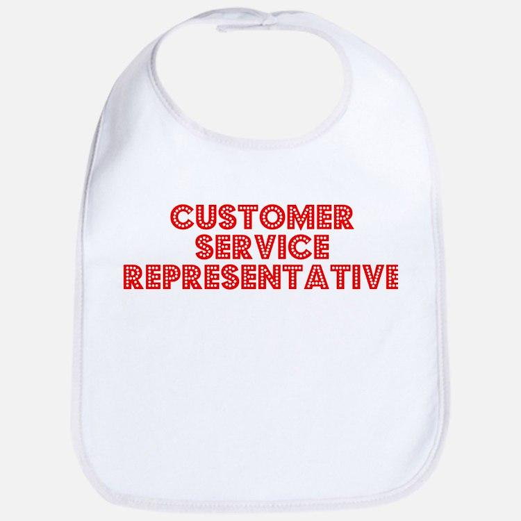 Retro Customer Se.. (Red) Bib