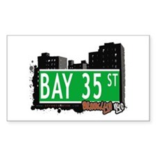 BAY 35 STREET, BROOKLYN, NYC Rectangle Decal